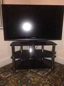 Piano Black Glass TV stand