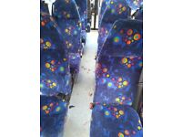 16 minibus coach seats on unwind tracking