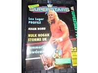 RARE WWE/ WWF WRESTLING SUPER STARS POSTER MAGAZINE MR PERFECT COVER HAVE OTHER MAGAZINES FOR SALE