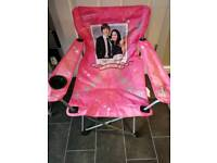 Chair - folding pink and cushion