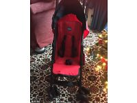 **BRAND NEW Chico Echo red and black stroller buggy