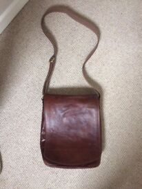 John Lewis Brown Leather Mens Bag