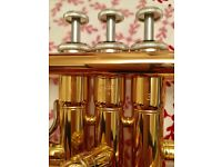 Excellent condition Yamaha trumpet for sale. A year old. daughter does not want to play any longer.