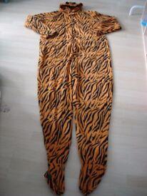 Men Tiger Onesie Size XL