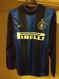 Retro Vintage Inter Milan 1999 Long Sleeve Football Shirt (Authentic Nike Dri Fit) Small