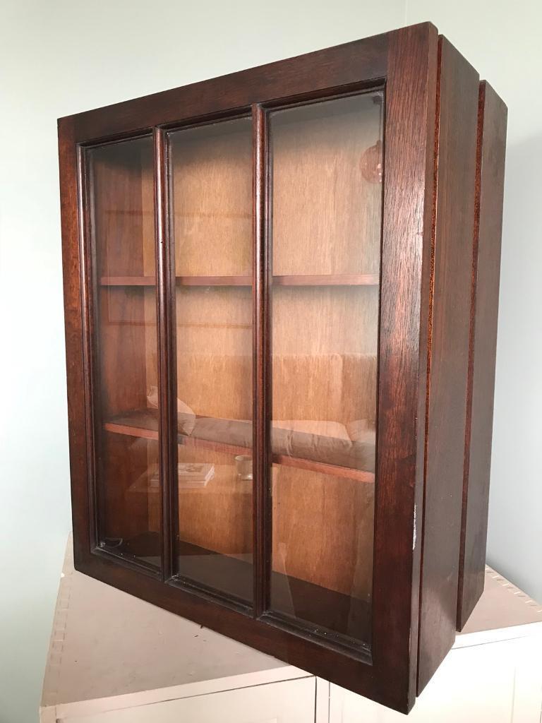 Vintage Old Antique Wooden Doctors Medicine Wall Cabinet Cupboard