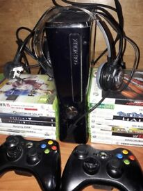 Xbox 360, 2 controllers, games....