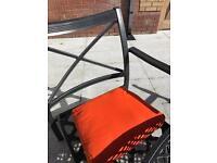 NEW seat pads patio cushions - orange