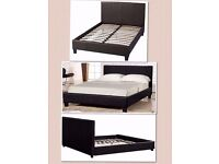 BRAND NEW- Double Leather Bed with Mattresses-AVAILABALE IN SINGLE, DOUBLE and kingsize