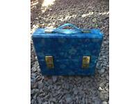 Retro 1970s blue floral cassette case groovy