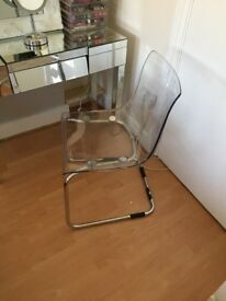 Contemporary Transparent Dining / Office Chair - Excellent Condition
