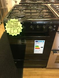 ELECTRA 50CM ALL GAS COOKER IN BLACK