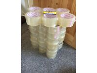 48 rolls of clear packing tape 48mmx66m