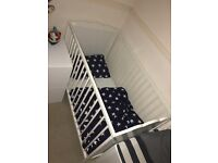 Baby Cot and Mattress - great condition!