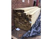 Treated Timber Decking Boards 28mm X 120mm X4.2 Long Must Go £7.00 Each