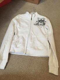 White lambretta zip up top size 10
