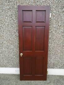 """7 x Interior Mahogany Doors 78"""" x 30"""" x 45mm"""