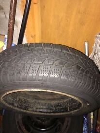 4 Dunlop winter tyres 185/65 R15 almost new £100