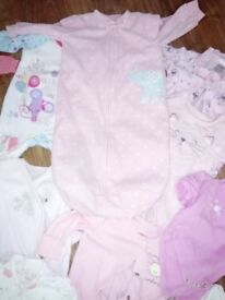 0-3 months baby bundle girls clothes