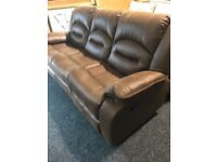 New-exDisplay brown recliner sofa-250-two available