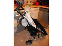pettie star zia black and white stroller snow flake limited edition
