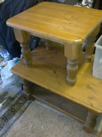 Two pine coffee tables, buy them together or separately