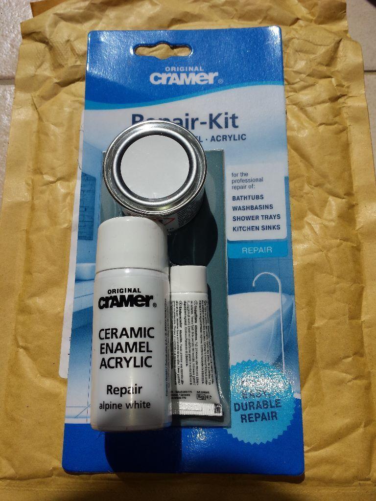 Cramer Original Repair kit for ceramic, enamel and acrylic bath and ...