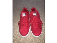 Red Adidas Stan Smith Trainers
