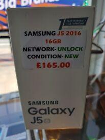 SAMSUNG J5 2016 16GB UNLOCKED BRAND NEW