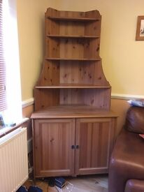 Pine corner unit. Lovely unit in good condition to collect from Strensall.