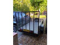 Heavy duty CAR TRAILER solid steel with aluminium checker plate 5 bar tread