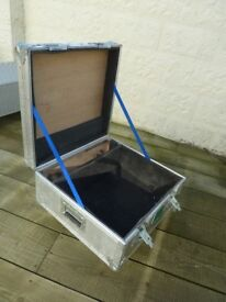 Aluminium Coffee Table/ Storage box on Large Casters Great Industrial Look