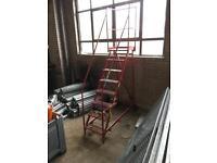 Mobile industrial platform steps safety warehouse ladders