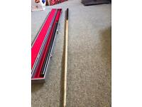 3 piece snooker cue with case