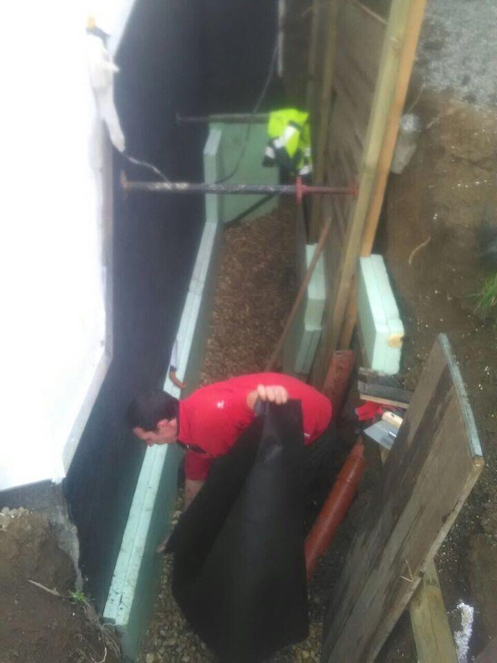 Kellerisolierung Ausschachtung Baggerarbeiten Dämmung Abdichtung in Radevormwald