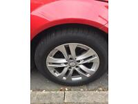 "Mercedes w204 16"" alloys with tyres"