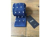 HUGO BOSS BLUE 6cm KNITTED TIE - Brand New