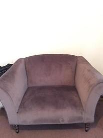 MADE Love Seat Suede Armchair