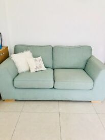 2 seater sofa from dfs - duck egg / sage / mint green