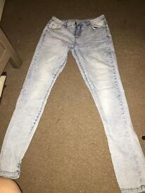 Size 10 ladies high waisted skinny jeans! X2