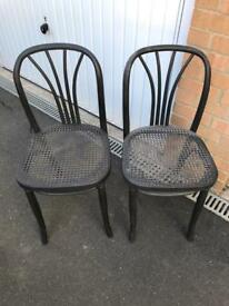 Pair of wicker chairs in graphite