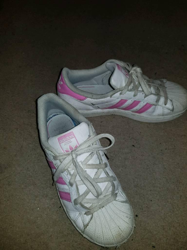 Kids pink adidas superstar size2  615520e01d3