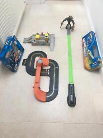 Hot wheels play set track and other toys