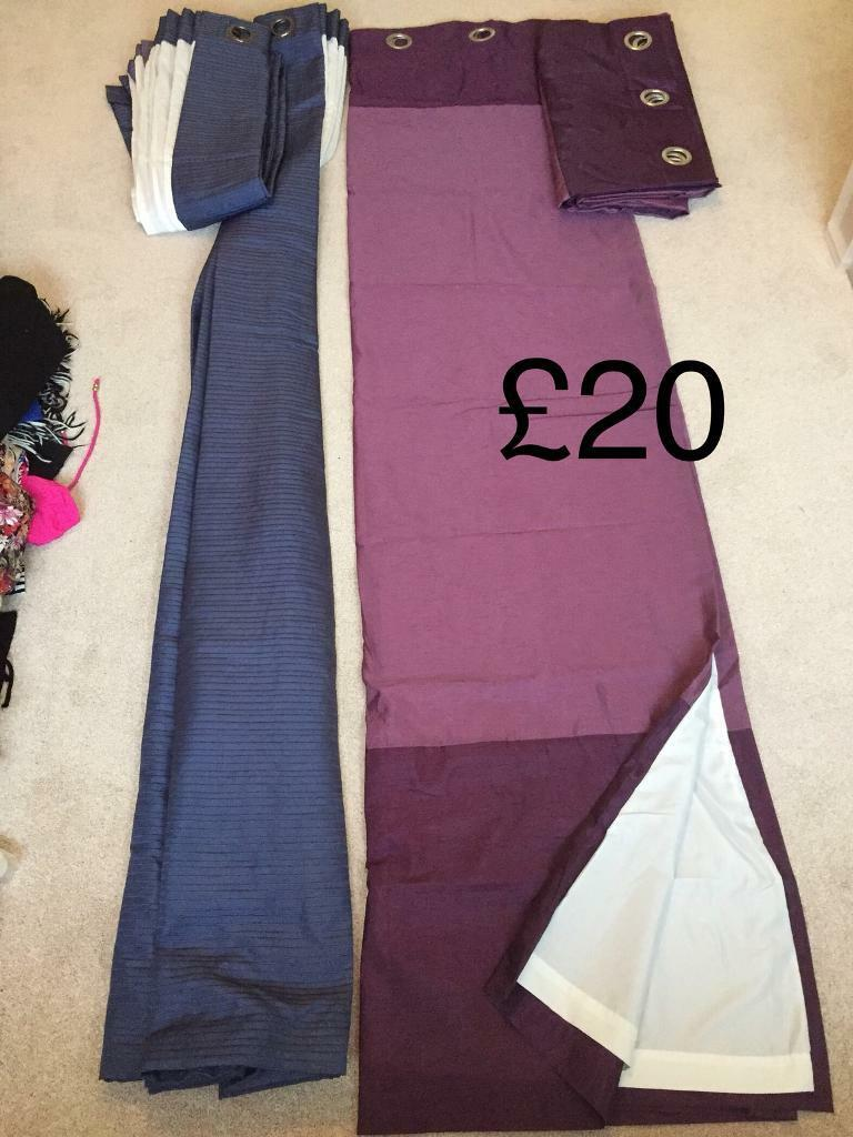 Fully lined curtains x2 pairs Dunelm & Debenhams