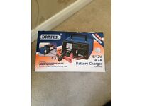 draper car battery charger 6/12V used once