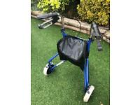 3 Wheel Walking Aid With Brakes
