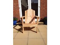 ADIRONDACK CHAIR, HAND MADE - SOLID PINE WOOD