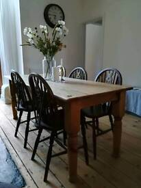 Old pine and elm table
