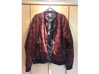 Red Camo Bomber Jacket