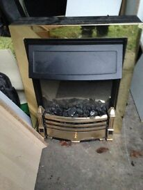 Bronze/gold Electric Fire
